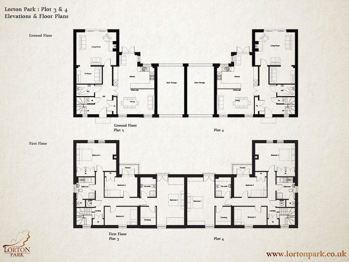 Plot Three and Four, Floor Plans, Phase One, Lorton Park
