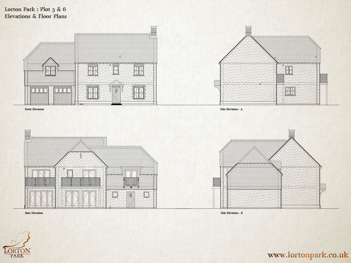 Five and Six, Side Elevations, Phase One, Lorton Park