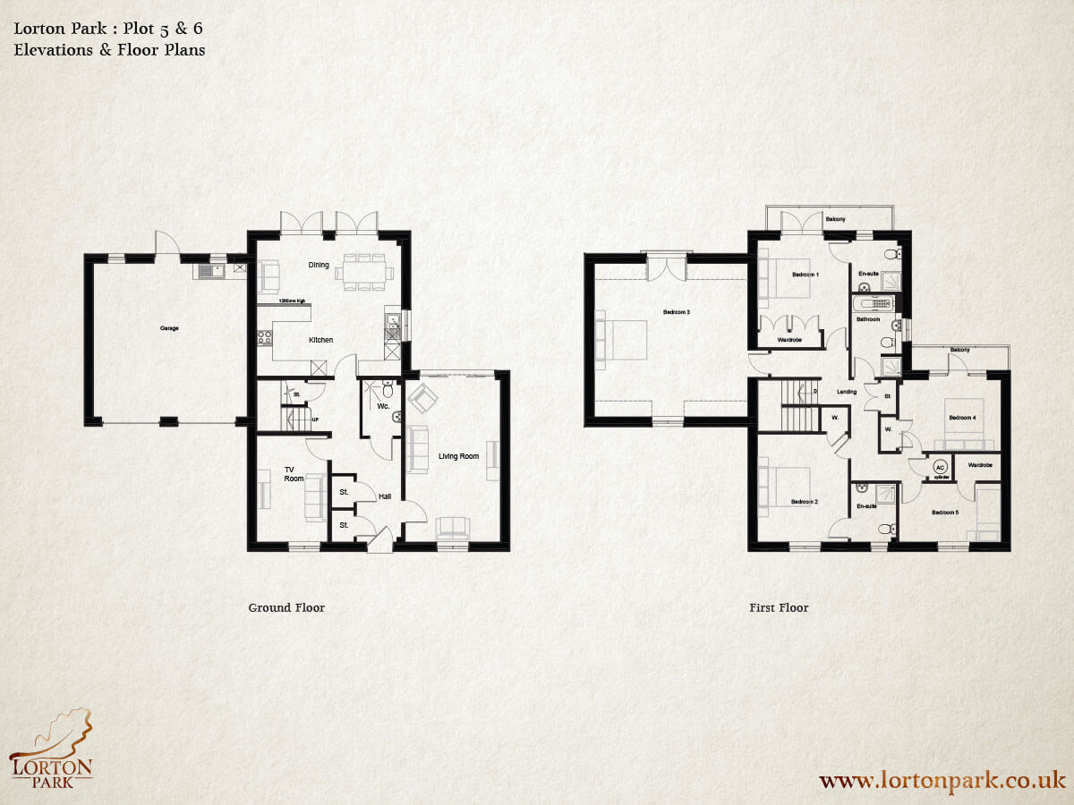 Plot Five and Six, Floor Plans, Phase One, Lorton Park