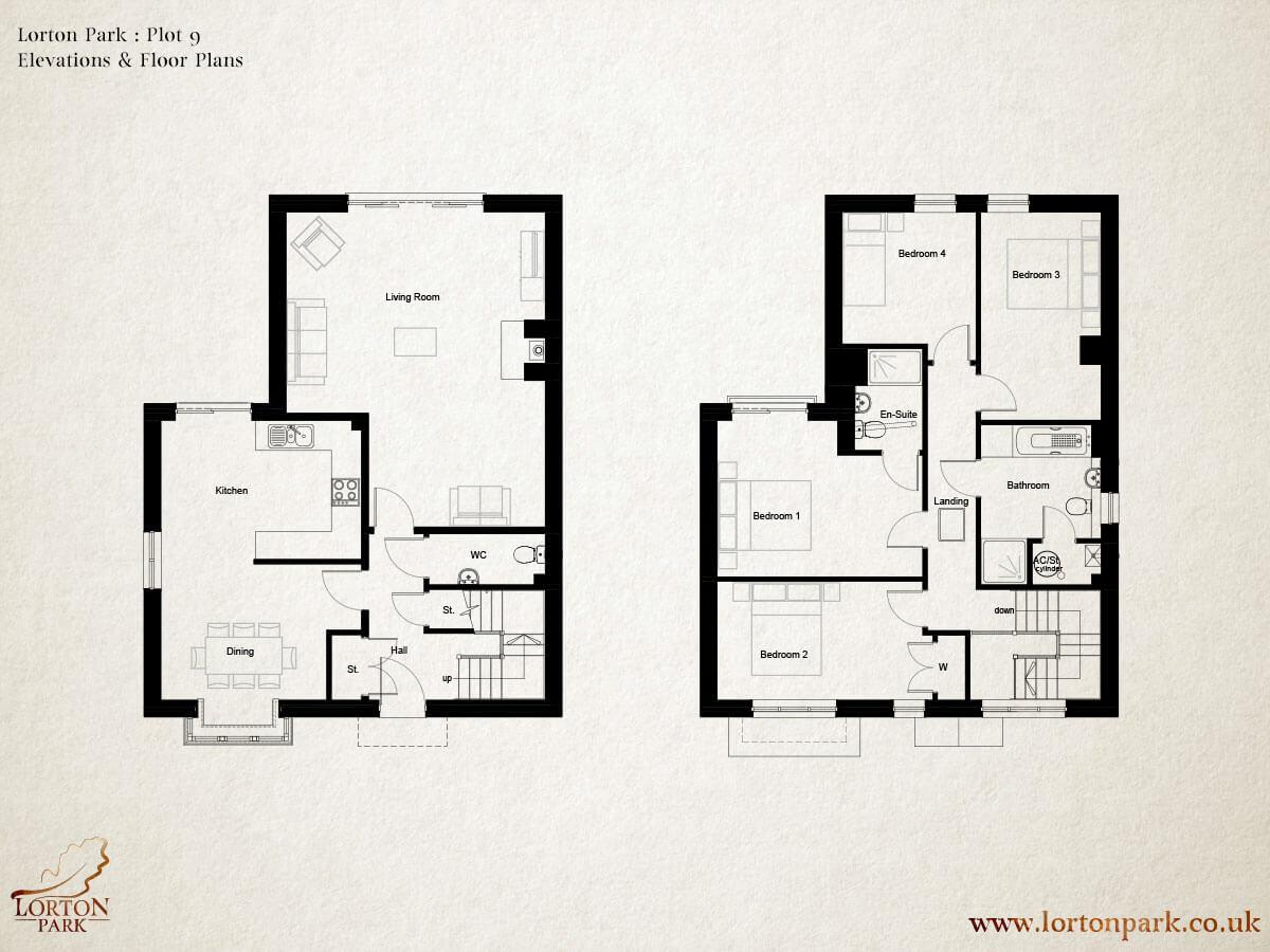 Plot 9 lorton park for Plot plan design